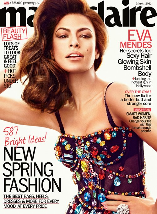 urban style,fashion,Eva Mendes,designer, Marie Claire, Photo shop,