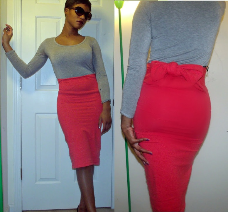 DIY: Body Con Bow tied Pencil Skirt | Off 4th & Graham