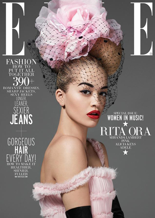 Rita Ora, Elle Magazine. Women of the Year, Mickey Mouse Ears, Roc Nation, High Fashion,