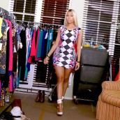 Nicki Minaj instagramed a photo wearing her Harlequin Dress from her Kmart Collection.
