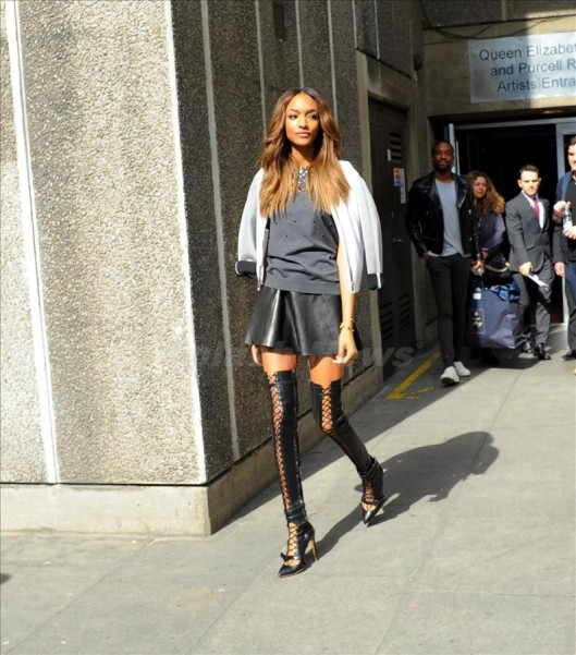 Jourdan Dunn leaves the Vogue Festival in London